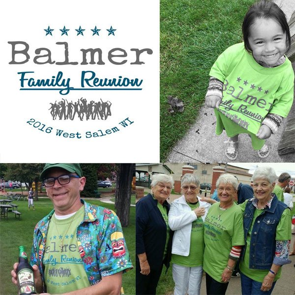 Balmer family reunion t-shirt combo photo